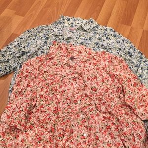 Two J. Jill Floral Tops